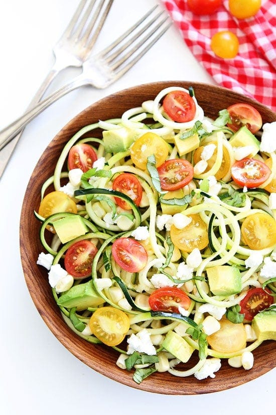Summer Zucchini Noodle Salad Two Peas & Their Pod