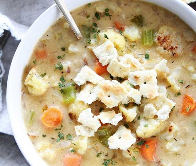 Creamy Roasted Cauliflower Chowder Recipe