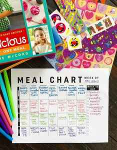 Free weekly meal plan printable use this easy chart to your meals also two peas  their pod rh twopeasandtheirpod