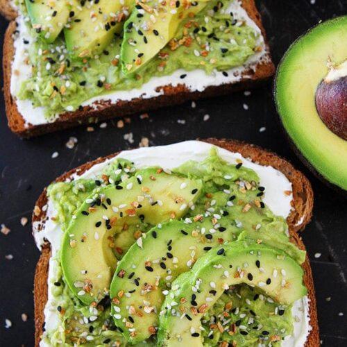 everything bagel avocado toast