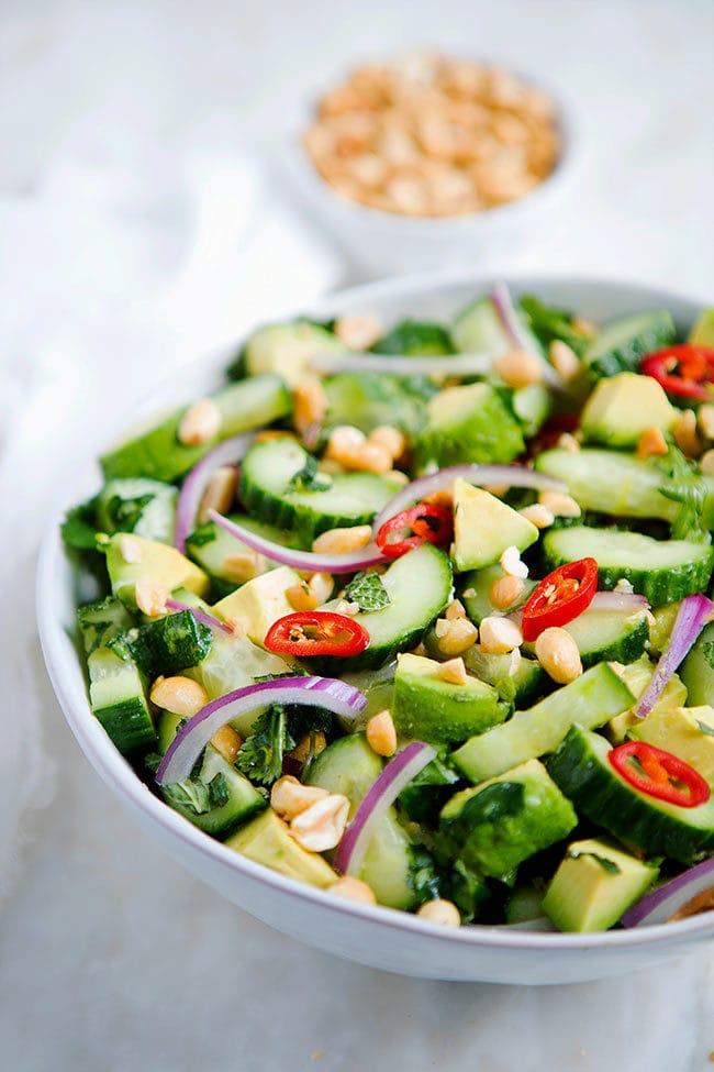 Cucumber Avocado Salad - Two Peas & Their Pod