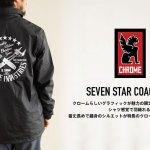 SEVEN STAR COACH JKT (セブンスターコーチジャケット) BLACK - CHROME (クローム)