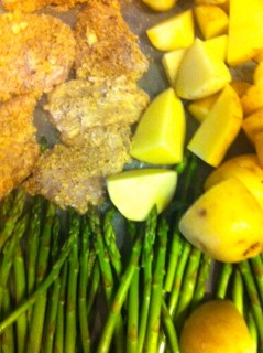 Chicken with New Potatoes and Asparagus