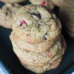 Browned Butter Cranberry Chocolate Chip Cookies