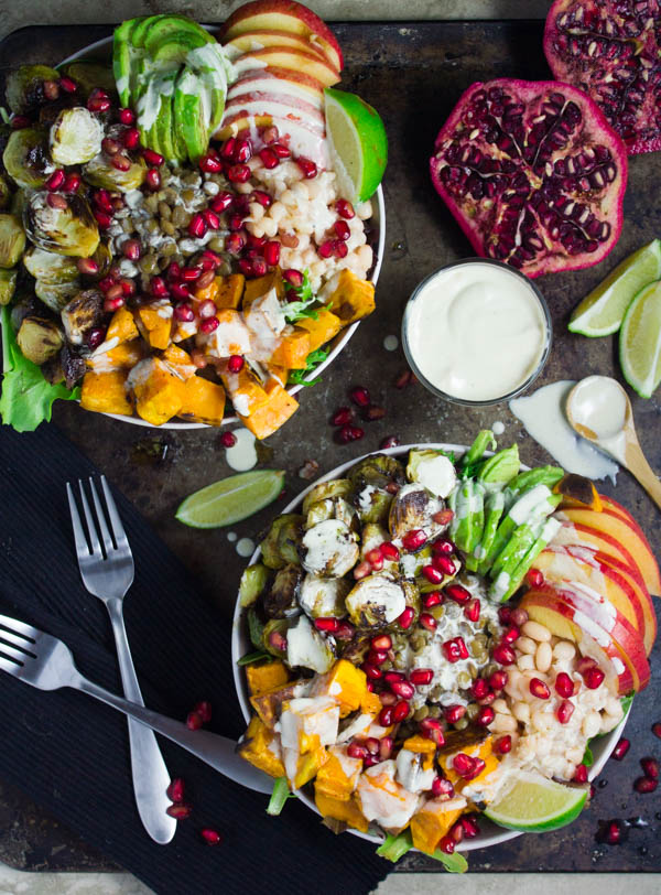 Fall Apples Wallpaper Buddha Bowl With Lentils Roasted Sweet Potatoes Amp Tahini