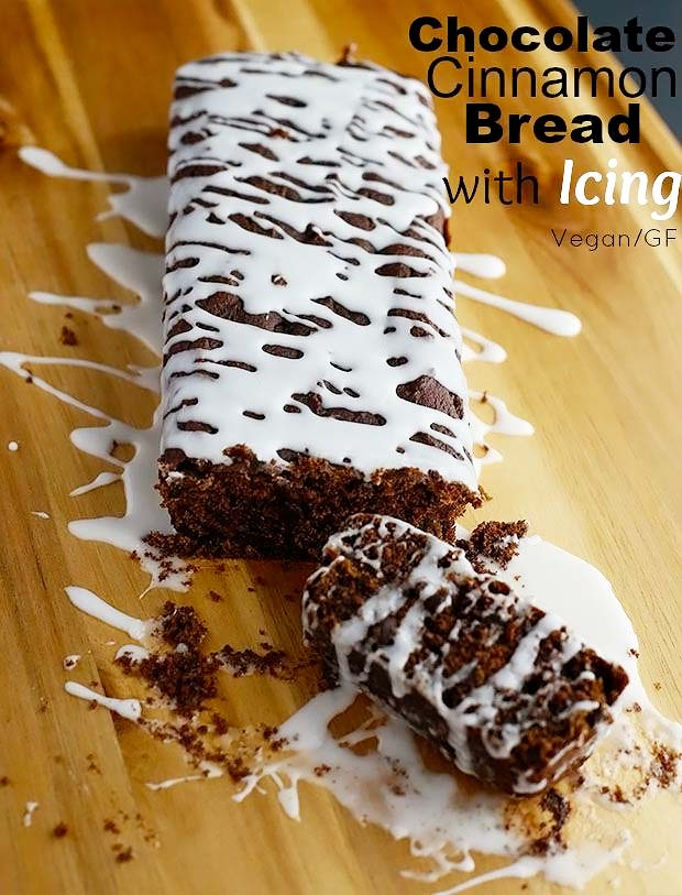 Chocolate Cinnamon Bread with Icing