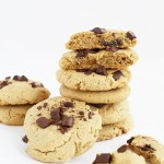 These Classic Chocolate Chip Cookies are Vegan and Gluten Free, soft a taste of vanilla and chocolate chunks! Super easy to make only 8 ingredients needed! / TwoRaspberries.com