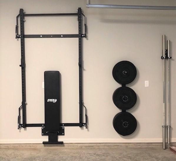 2021 folding wall mounted squat racks