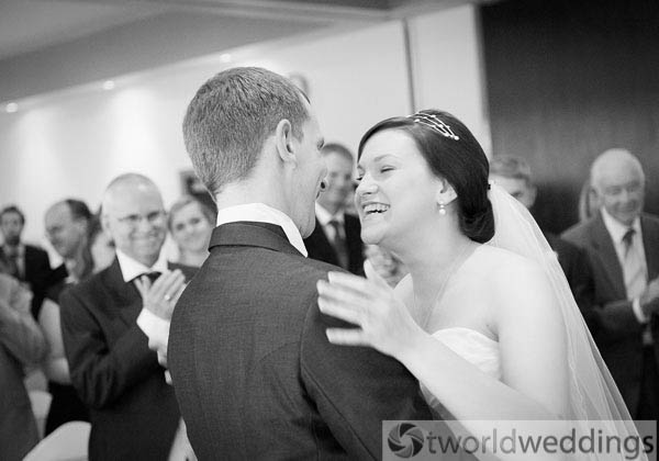bride and groom picture at their wedding ceremony. Beautiful wedding photography by TWorld Weddings