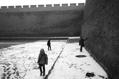 Pingyao snow around an ancient city