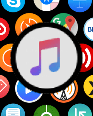 icono Musica en Apple Watch