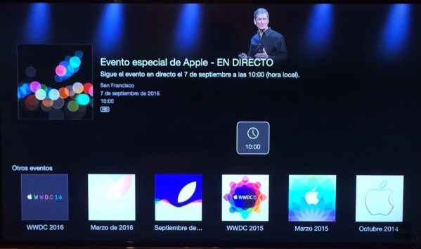 Apple Events en Apple TV 3