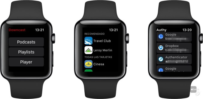 varias Apps de Apple Watch