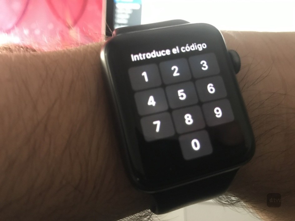 código de desbloqueo en Apple Watch