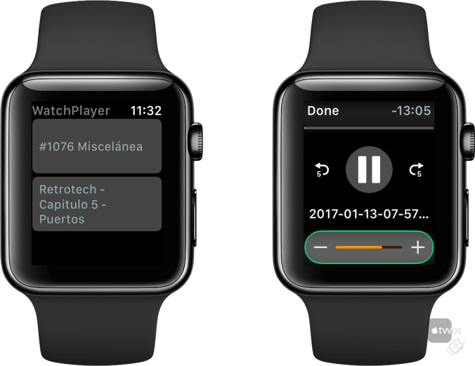 Watch Player en Apple Watch