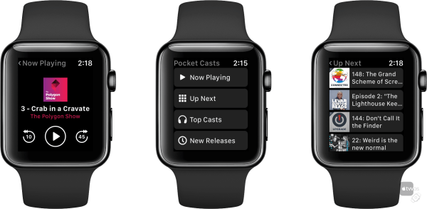 Pocketcast en el Apple Watch
