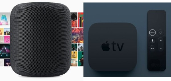 HomePod junto a Apple TV