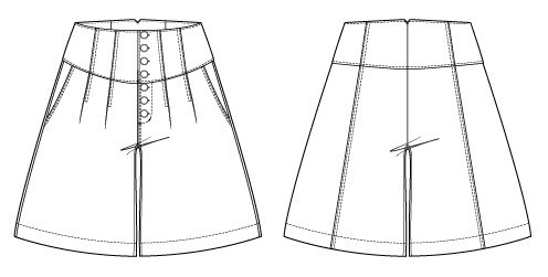 Gobi Culottes Digital Sewing Pattern