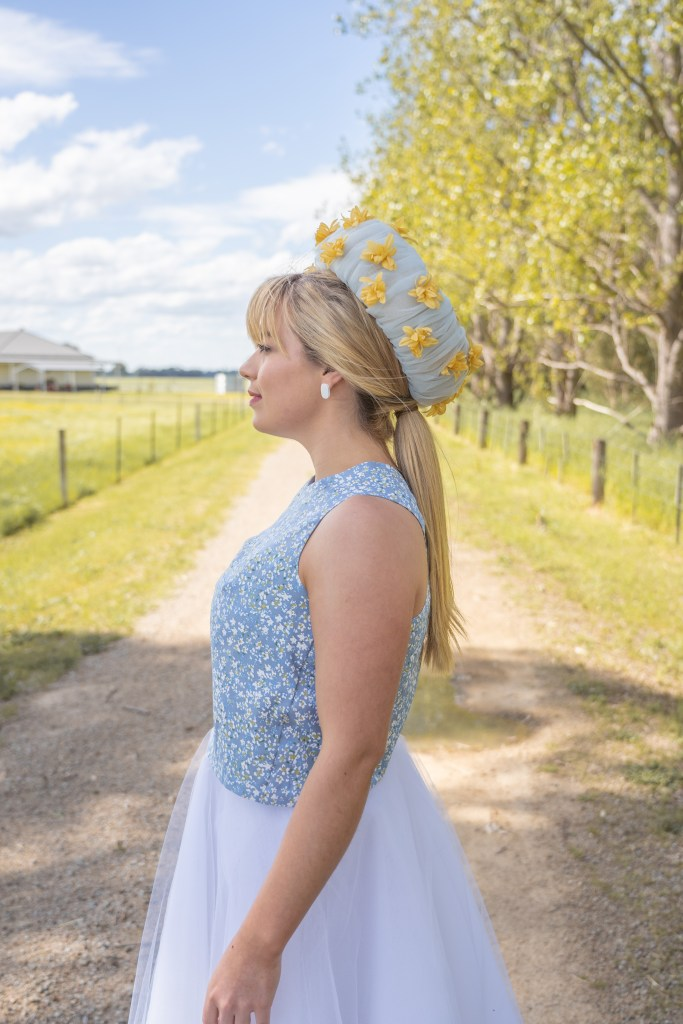 Altas Top by Stitch Witch Patterns - Tessuti Fabrics - Two Sewing Sisters with Lauren J Ritchie Millinery photo by Ben Christie Media