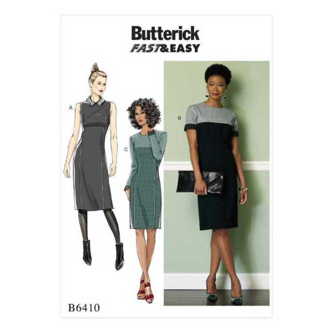 Butterick 6410 - Minvera Red Fabric - Two Sewing Sisters