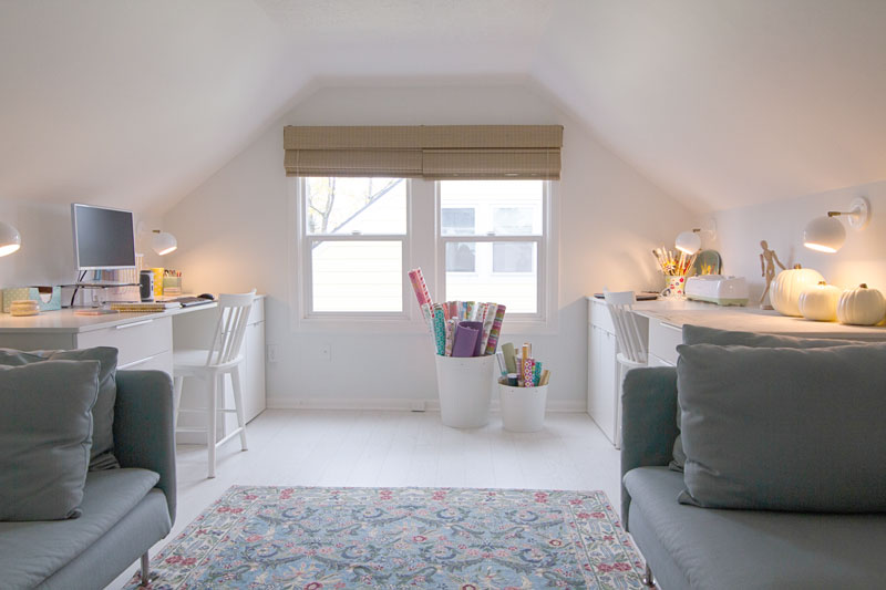 Craft Studio and Home Office Reveal - Full Room