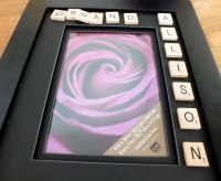 Scrabble Picture Frame - Two Sisters