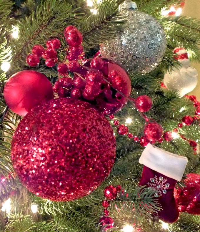 Glitter Xmas Tree Decorations