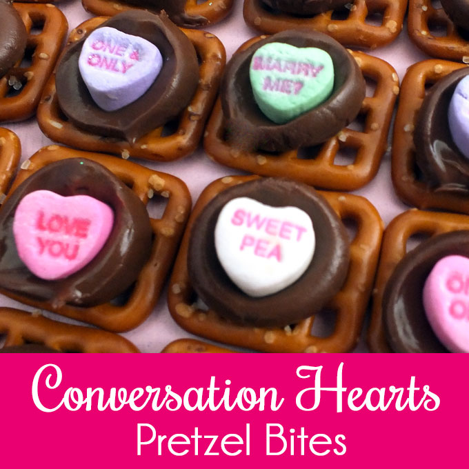 Conversation Hearts Pretzel Bites Two Sisters Crafting