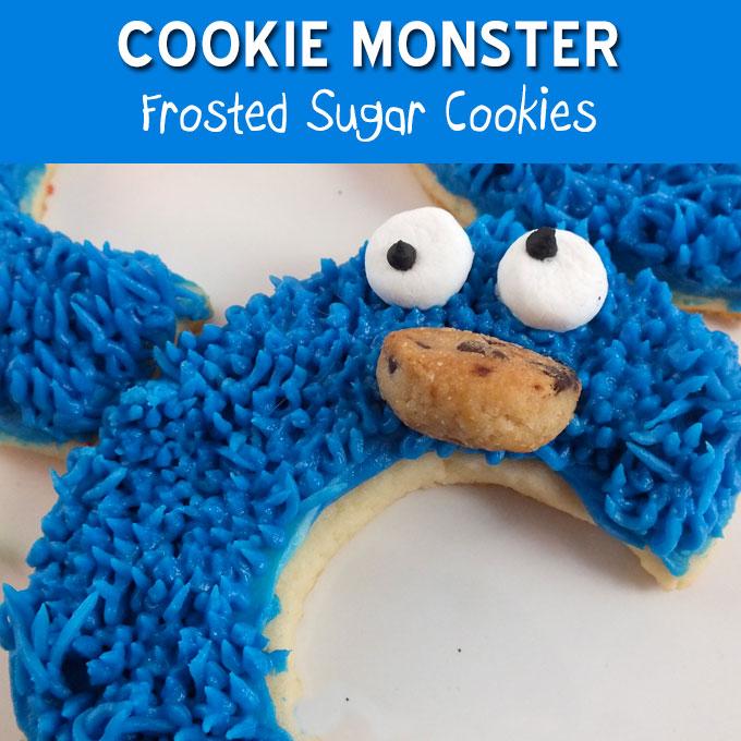 Cookie Monster Sugar Cookies Two Sisters Crafting