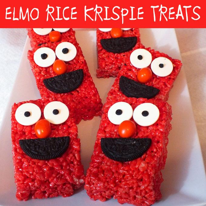 Elmo Rice Krispie Treats  Two Sisters Crafting