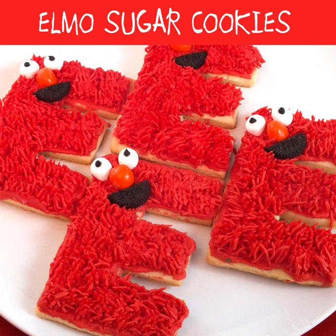 Elmo Sugar Cookies  Two Sisters Crafting