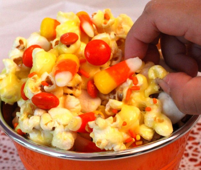 Candy Corn Popcorn A Fun Halloween Treat Sweet Salty Crunchy And Delicious