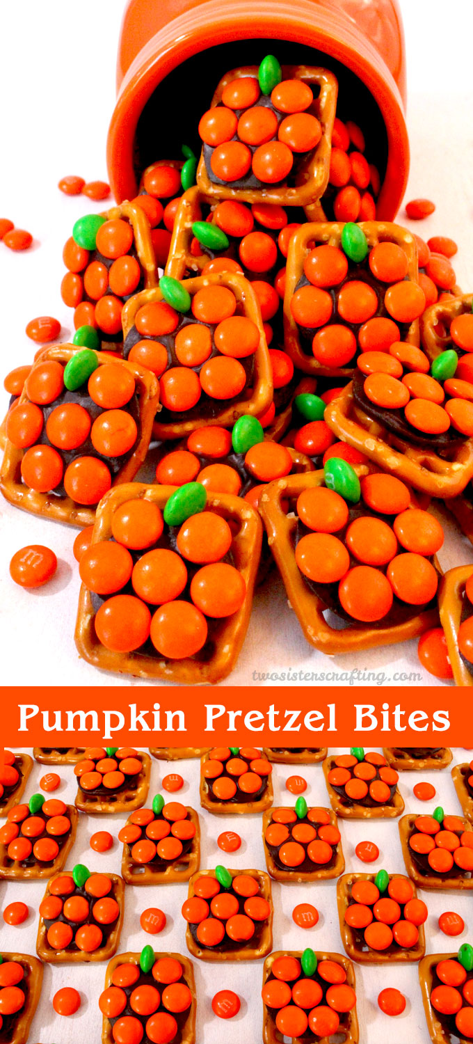 Pumpkin Pretzel Bites Two Sisters Crafting