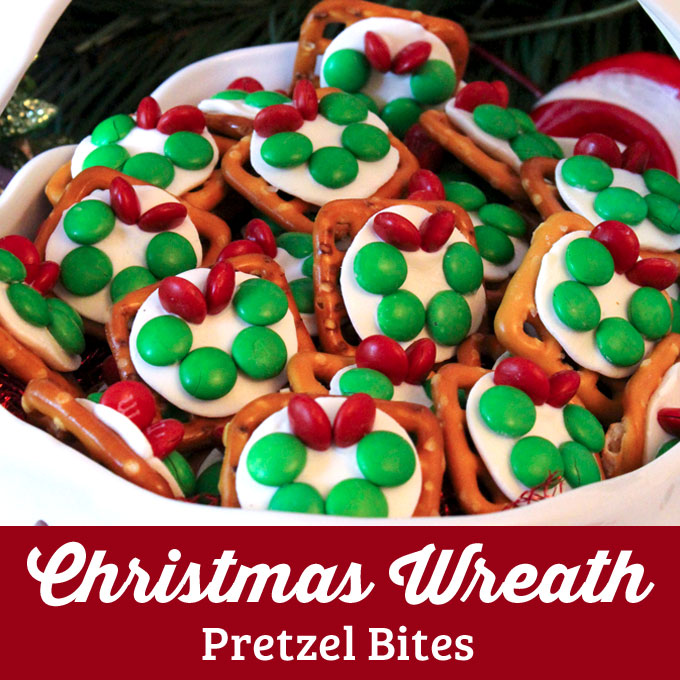 Christmas Wreath Pretzel Bites Two Sisters Crafting