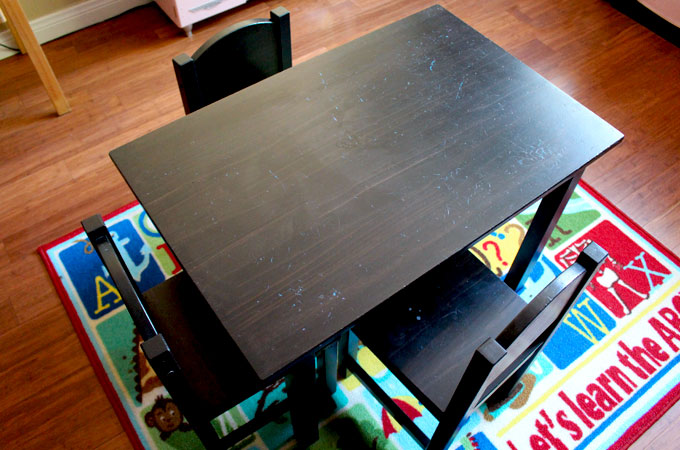 home depot chairs plastic paula deen dogwood dining diy kid's homework desk - ikea hack two sisters