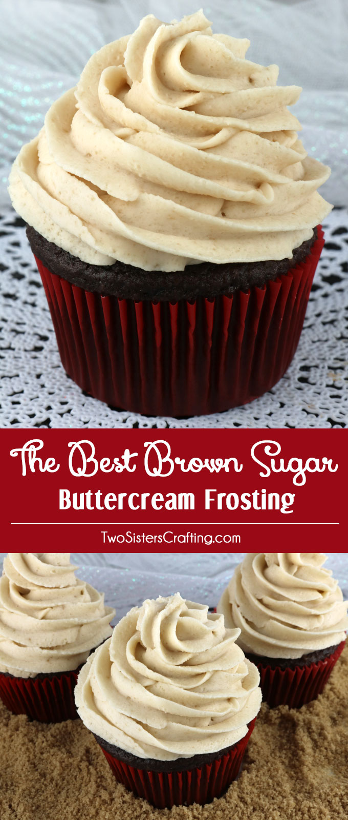 The Best Brown Sugar Buttercream Frosting  Two Sisters
