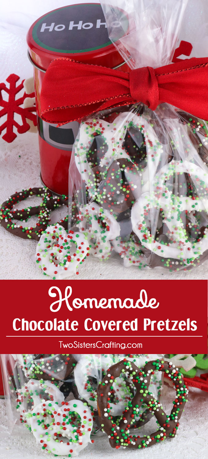 Homemade Chocolate Covered Pretzels Two Sisters