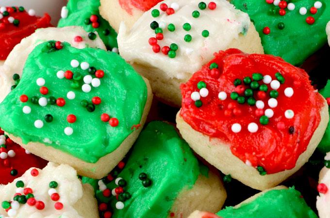 Christmas Sugar Cookie Bites Two Sisters