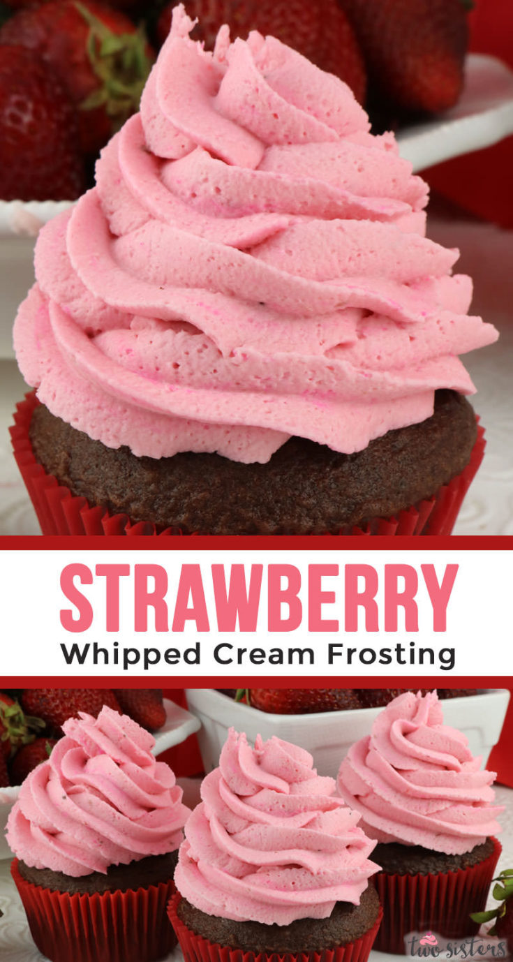 Strawberry Whipped Cream Frosting Two Sisters