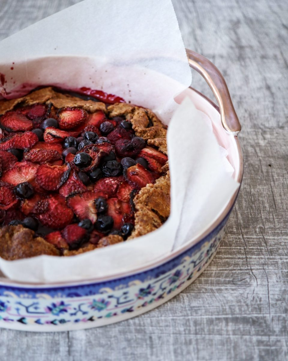 Berry Galette with Pecan Crust
