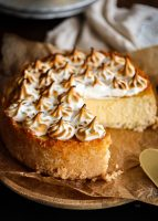 creamy lemon coconut cheesecake
