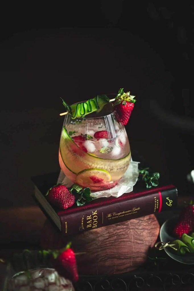 strawberry cucumber mojito, summer drink, mojito recipe