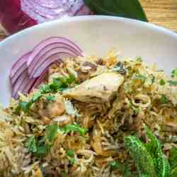 Instant Pot Indian Chicken biryani is a one-pot biryani in your pressure cooker that tastes so authentic, you won't believe you made this in one step in your pressure cooker!