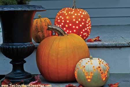 DIY Pumpkin Luminaries