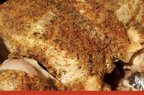 This Crock Pot Chicken tastes like those delicious rotisserie chickens you can purchase cooked in the grocery store. So Simple So Inexpensive So Delicious