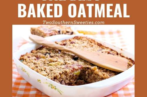 The warmth and goodness of oatmeal in a baked form. This is so easy and great to serve when you have overnight guests. Great for brunch! #oatmeal #brunch #christmasbreakfast #easybreakfast