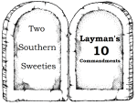 The Layman's 10 Commandments