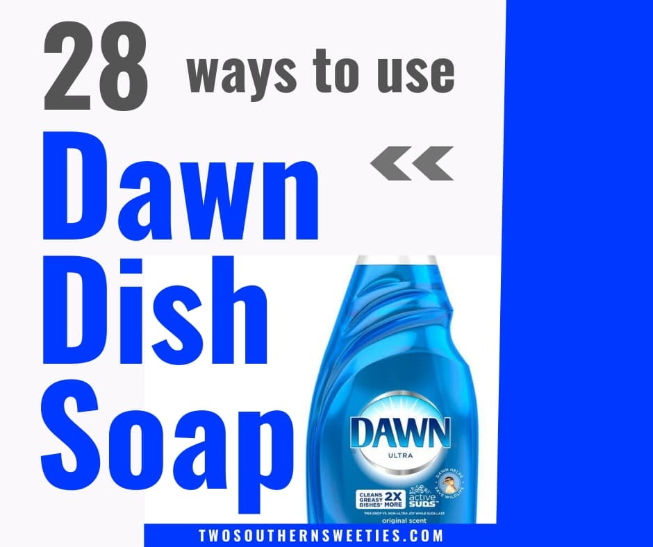 It's not just for dishes. These 28 tips will help make your life easier. From dealing with greasy hair, manicures, house plant insect problems, clean windows and showers to cleaning tools #lifetips #lifehacks #dawn