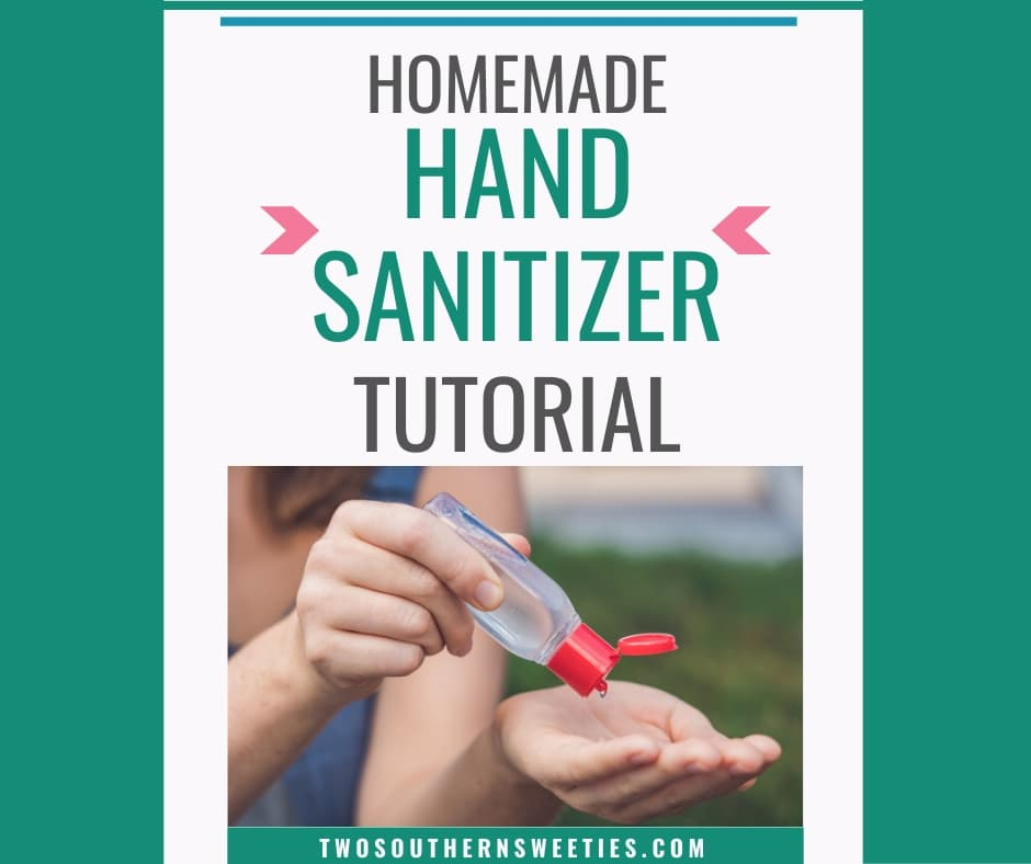 Homemade Hand Sanitizer made with alcohol, aloe vera gel and essential oils. Combat cold, flu and coronavirus #handsanitizer