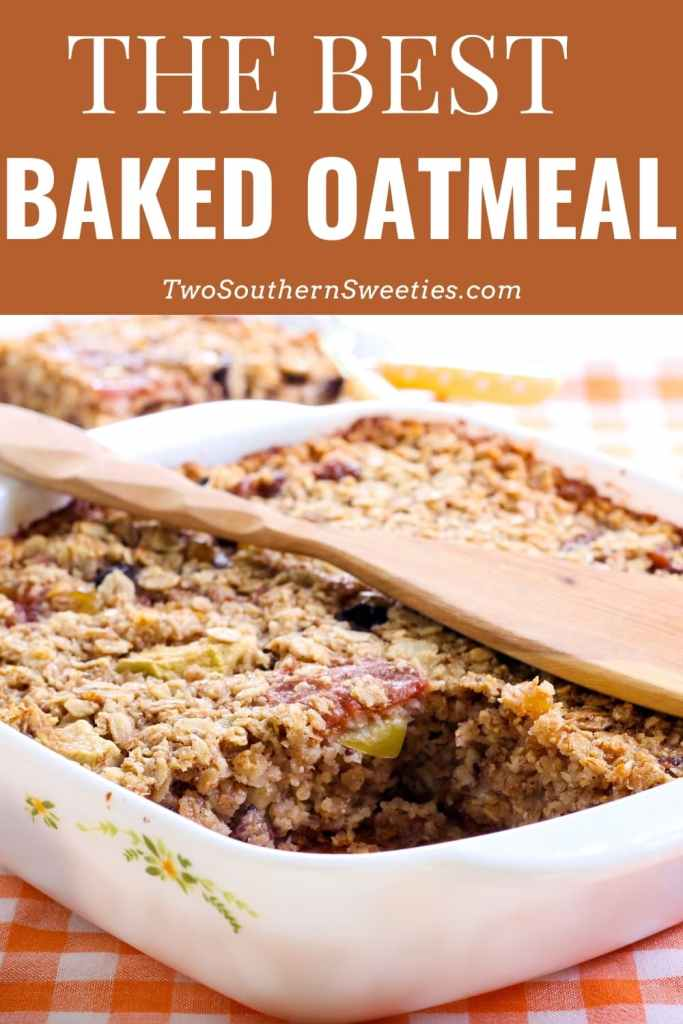 The warmth and goodness of oatmeal in a baked form. This is so easy and great to serve when you have overnight guests. Great for brunch!  #oatmeal #brunch #christmasbreakfast